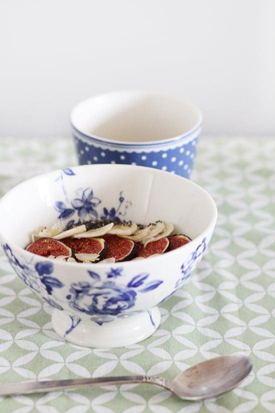 Porridge mit Feigen und Mandeln