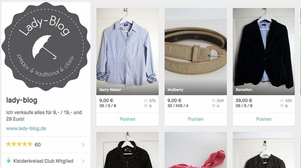 In eigener Sache: Der Lady-Blog bei Kleiderkreisel