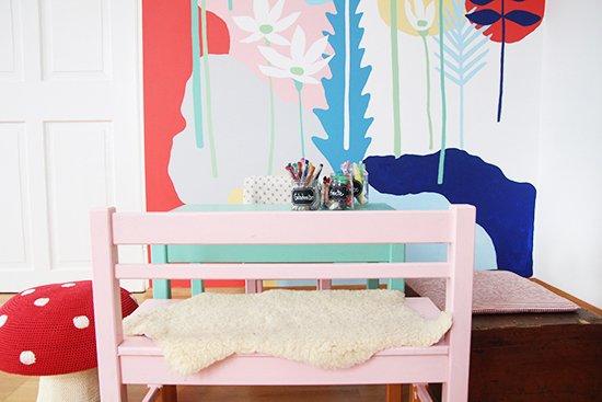 Kinderzimmer Basteltisch