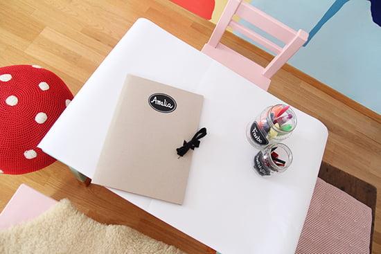 Kinderzimmer Basteltisch DIY