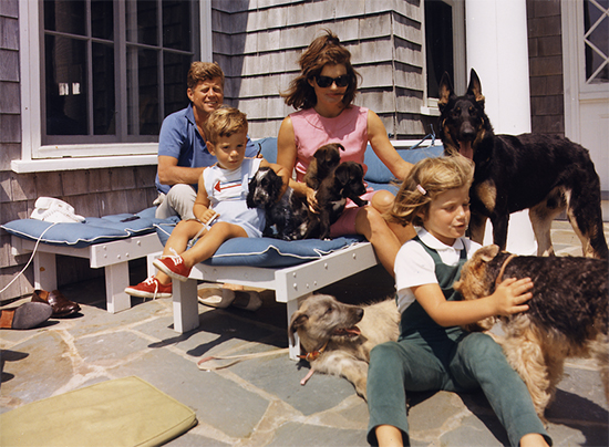 Familie Kennedy in Hyannis Port
