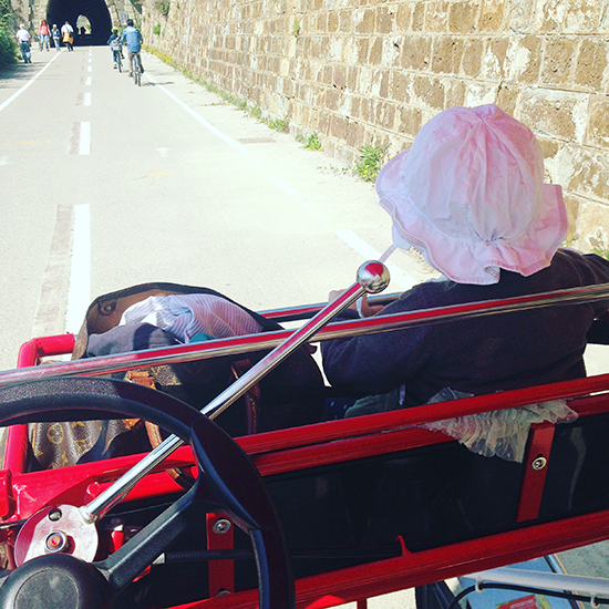 Rikscha fahren in Sanremo