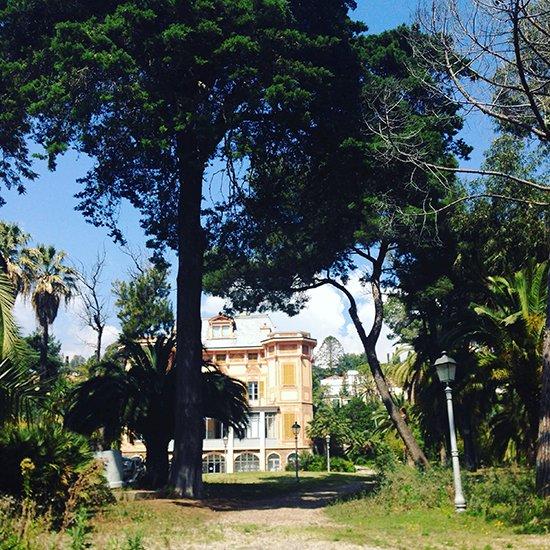 Eine Rikscha-Tour durch Sanremo: Die Villa von Alfred Nobel