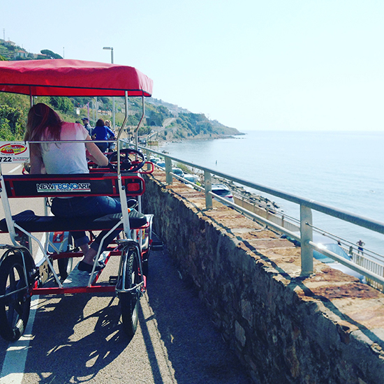 Eine Rikscha-Tour durch Sanremo