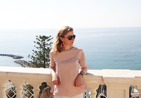 Bloggerin Daniela Uhrich im Royal Hotel Sanremo