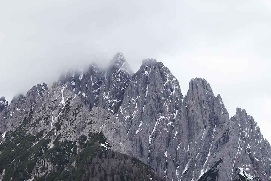 Die Aussicht von der Dolomitenhütte in Osttirol