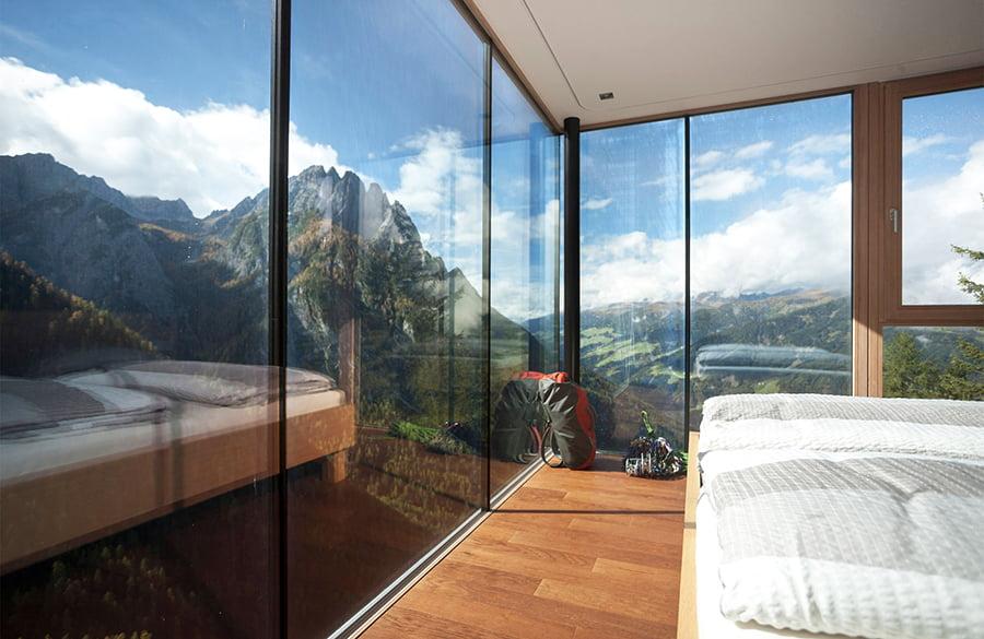 Luxus-Berghütte: Aussicht in der Dolomitenhütte in Osttirol