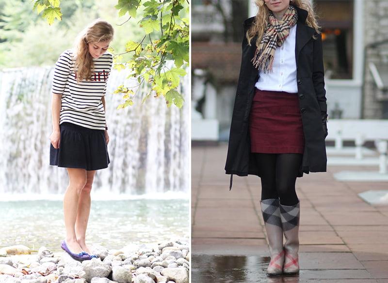 Die Basisgarderobe der Lady: Sommerrock und Kordrock