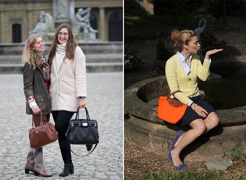 Die Basisgarderobe der Lady: Lederhandtasche von The Bridge und Le Pliage von Longchamp