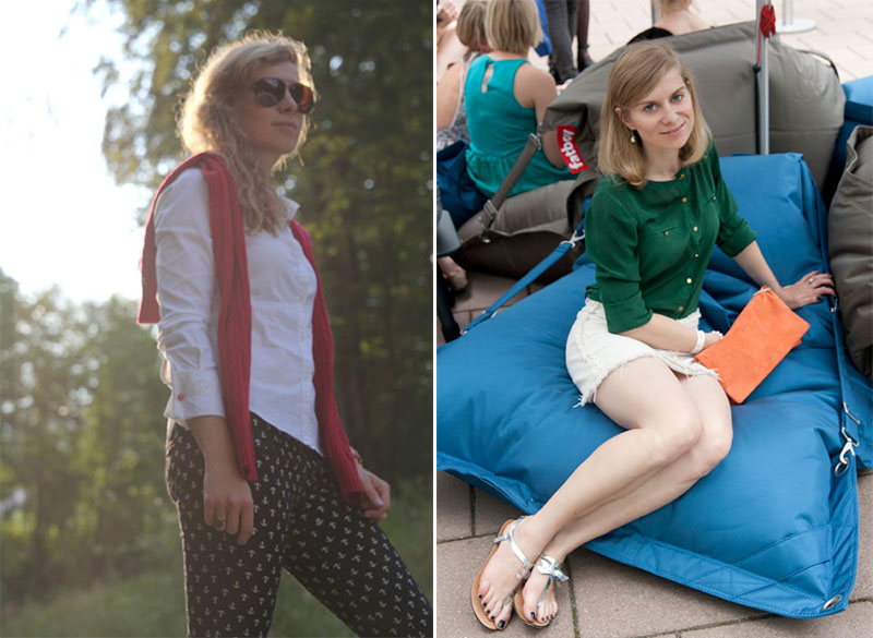 Die Basisgarderobe der Lady: Weiße Bluse und grüne Seidenbluse