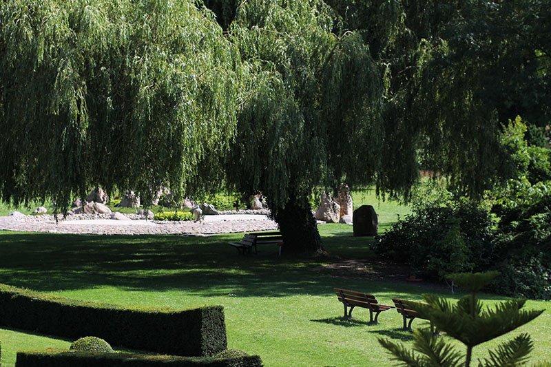 Hotel am Tiefwarensee: Großzügige Parklandschaft