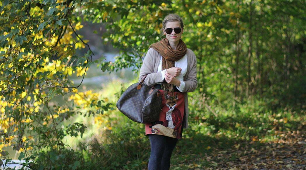 Outfitpost: Mit dem Fuchs-Rock im Goldenen Herbst