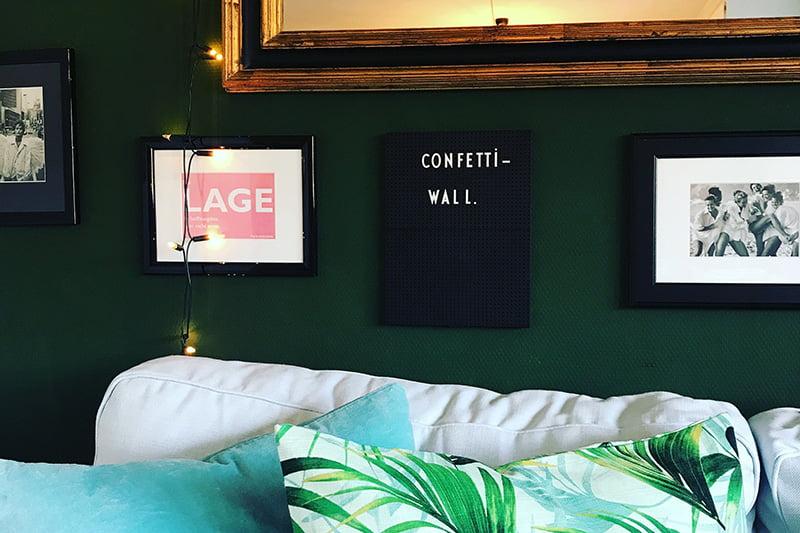 Hereinspaziert: Grüne Wände