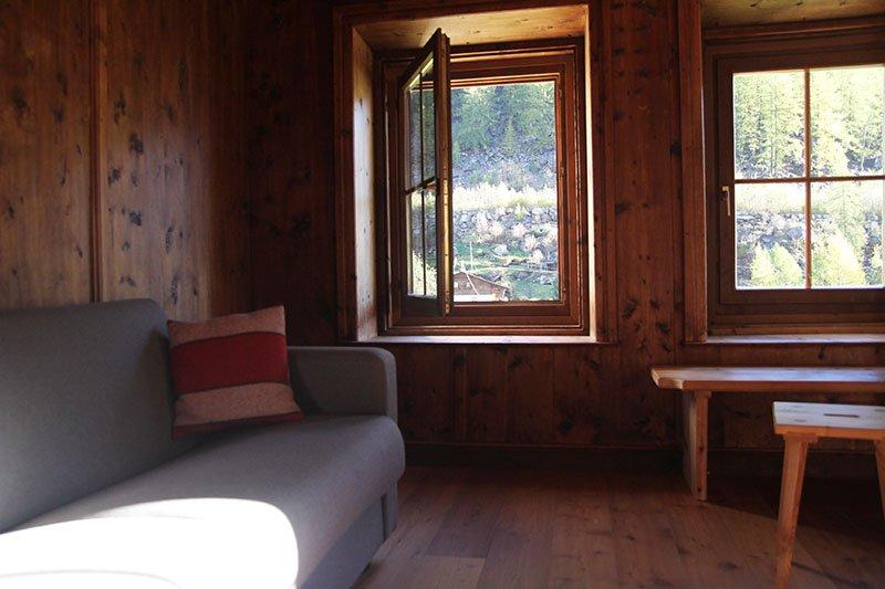 Was für ein Ausblick: Alpin-Lodge Josephus im Schnalstal