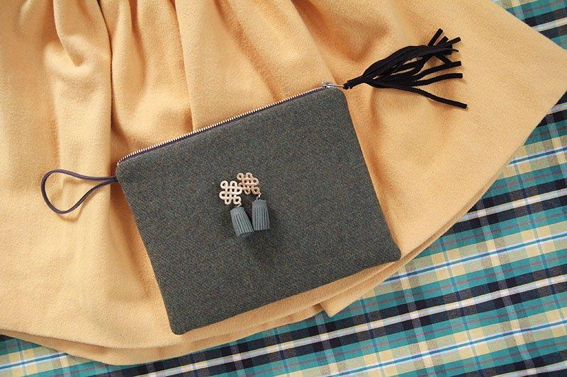Tweed-Tasche von Carlitos Handmade