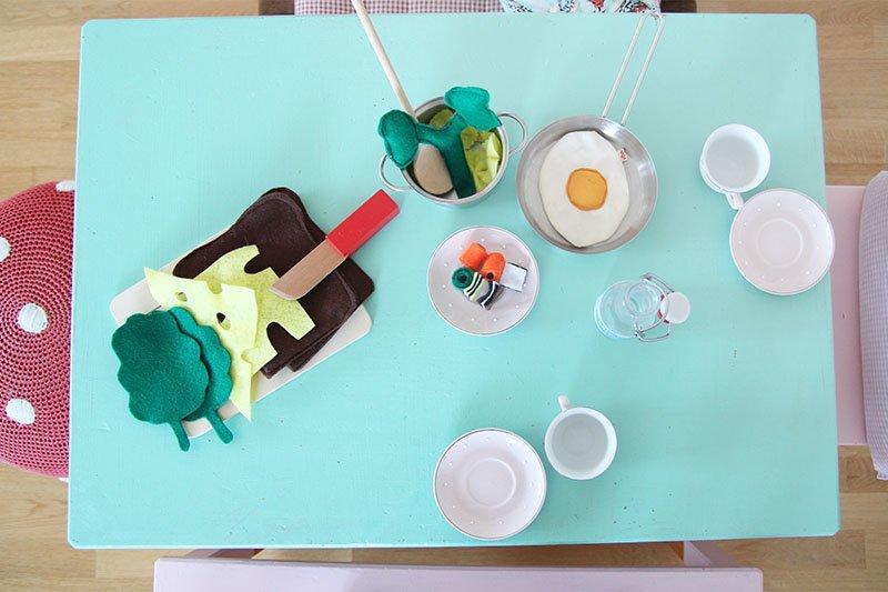 Essen für die Kinderküche aus Filz selbermachen
