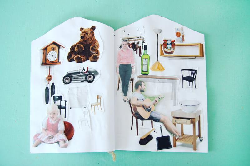 DIY-Ideen für Regen-Nachmittage: Puppenhaus aus Papier