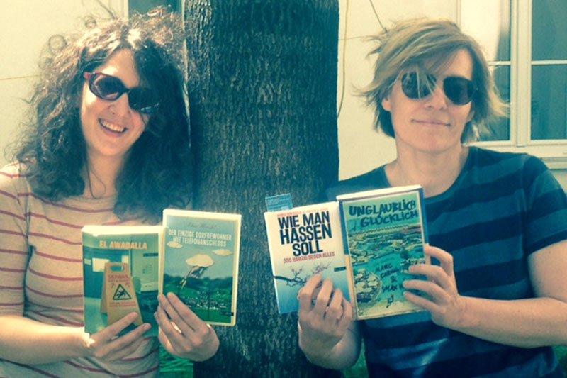 Verlegerin Vanessa Wieser und Assistentin Metka Wakounig managen den Milena Verlag