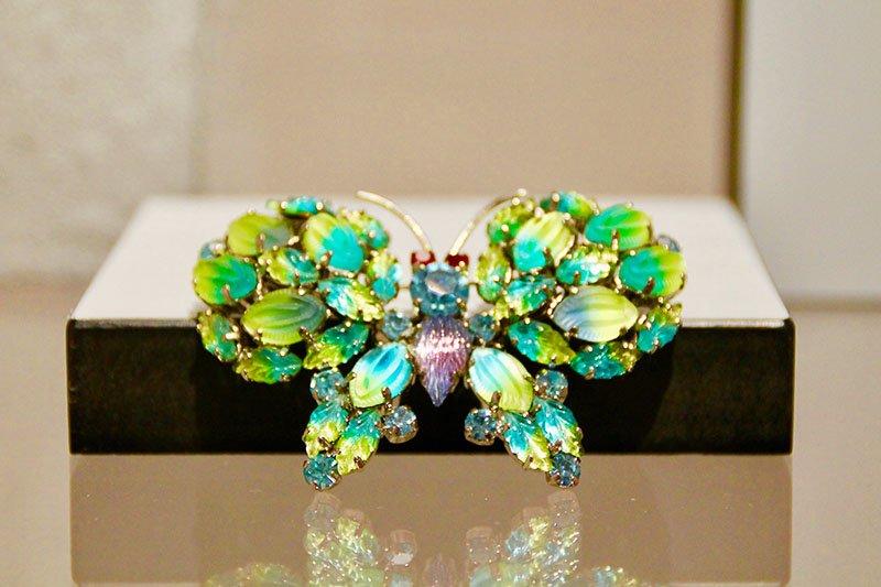 Schmetterlingsbrosche von Dior aus dem Jahr 1966