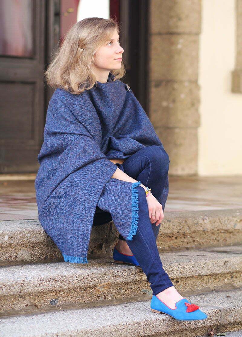 Daniela Uhrich vom Lady-Blog mit Quasten-Slippern von Boden
