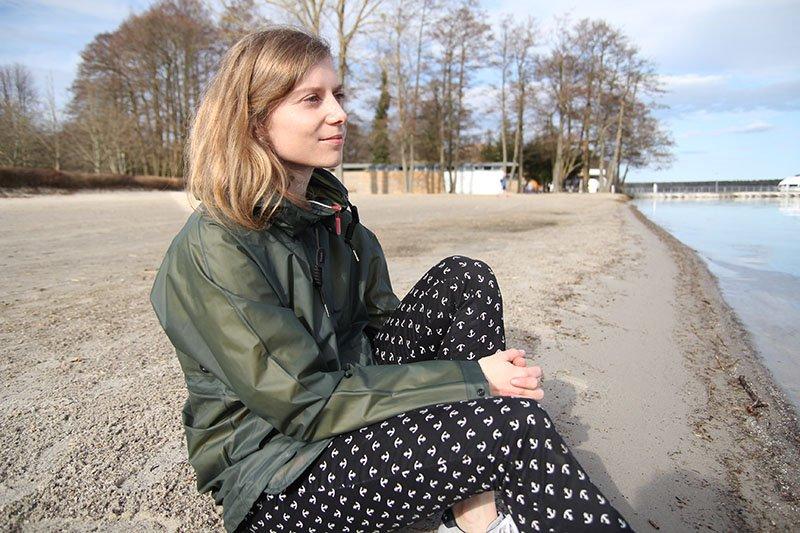 Daniela Uhrich vom Lady-Blog mit Hunter Regenjacke