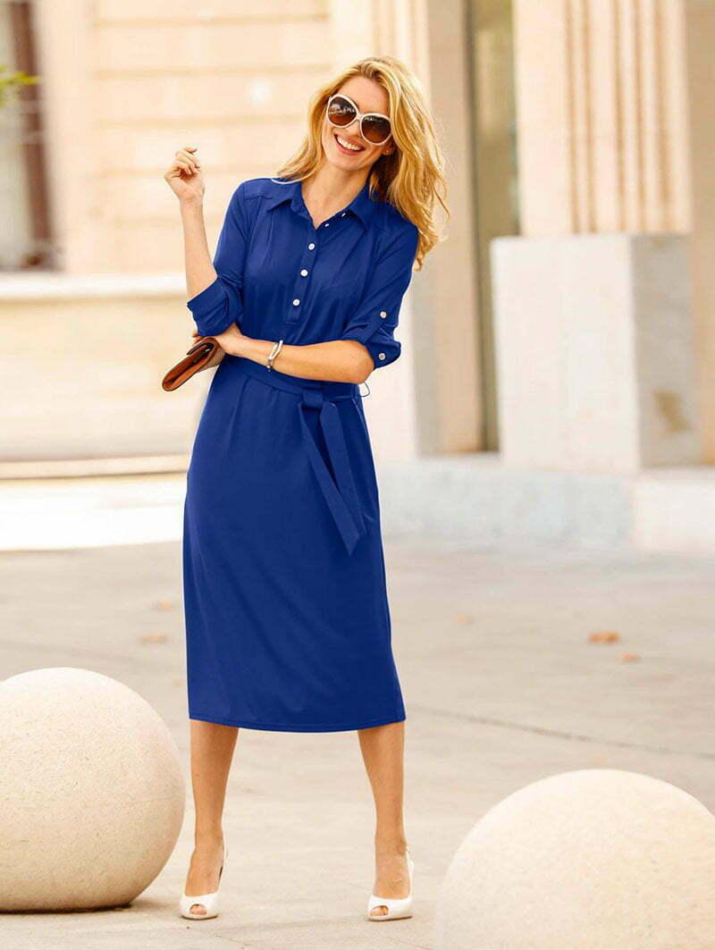 Atelier Goldner Schnitt: Hemdblusenkleid für kräftige Ladys