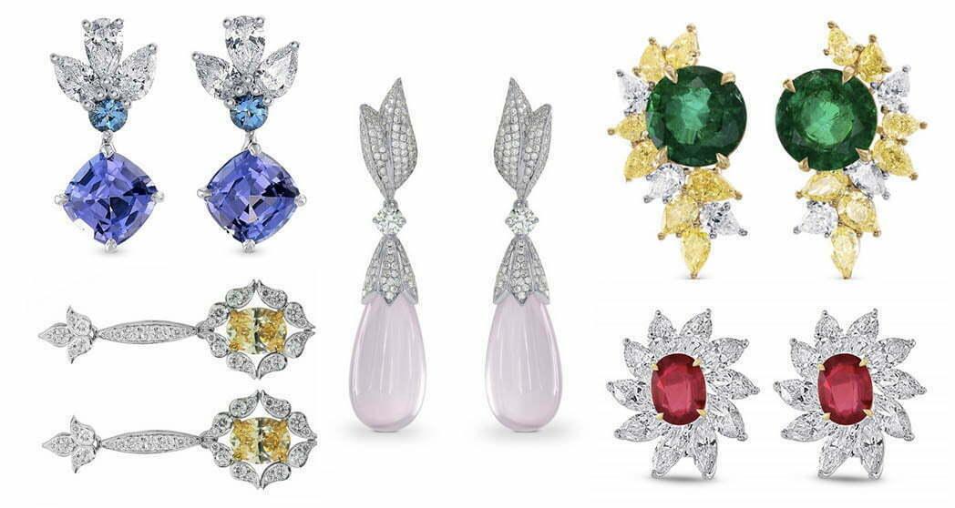 Farbige Diamanten-Ohrringe von Leibish