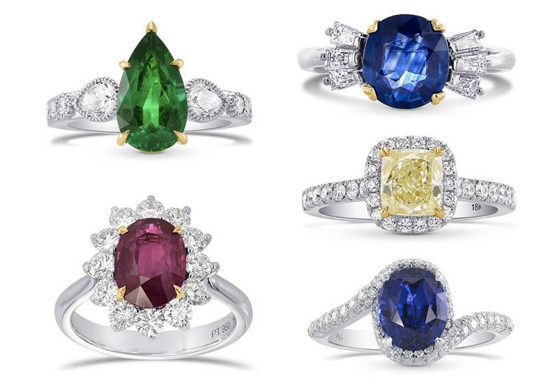 Farbige Diamanten-Ringe von Leibish