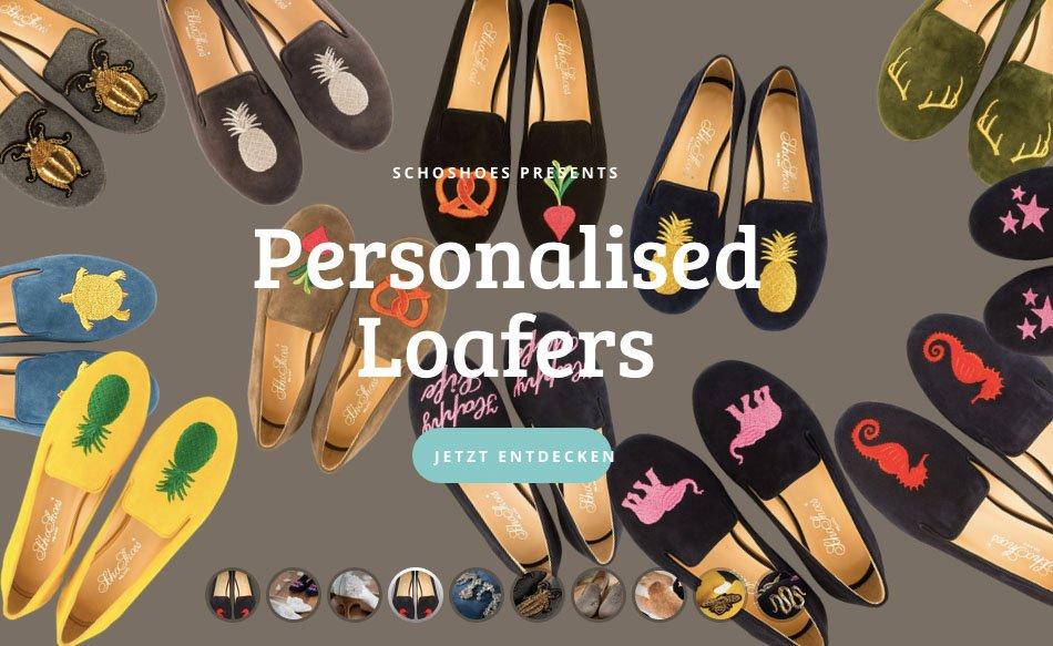 Bestickte Loafers von SchoShoes