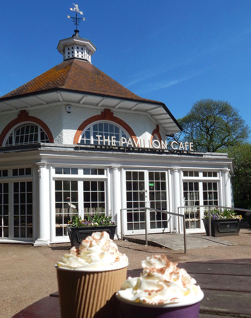 London-Spaziergang durch Greenwich: Pavillon Tea House