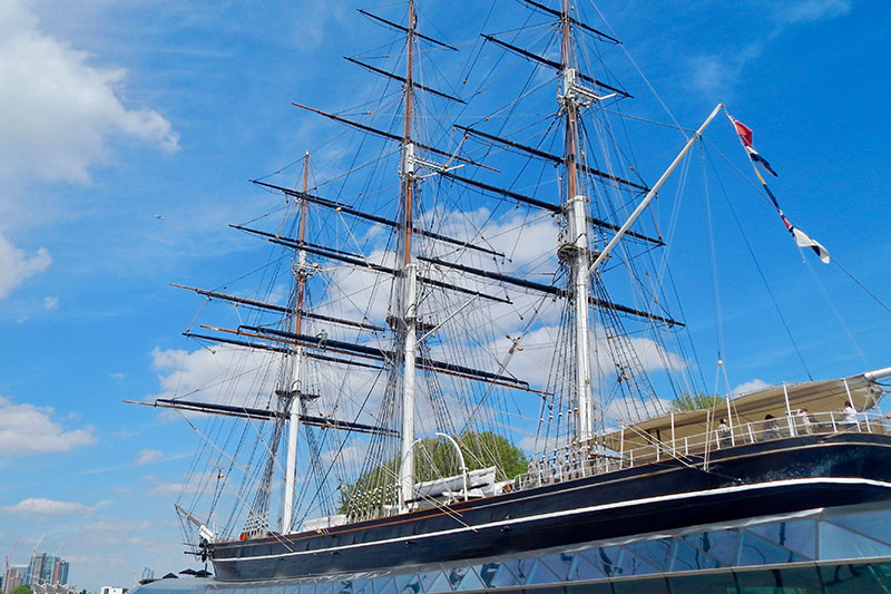 London-Spaziergang durch Greenwich: Cutty Sark