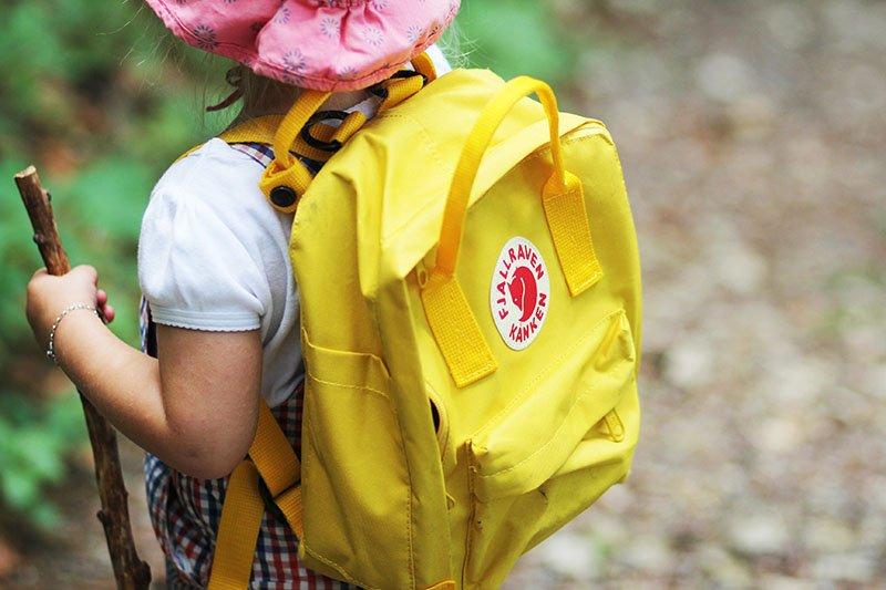Fjällräven Kånken für Kinder in Gelb