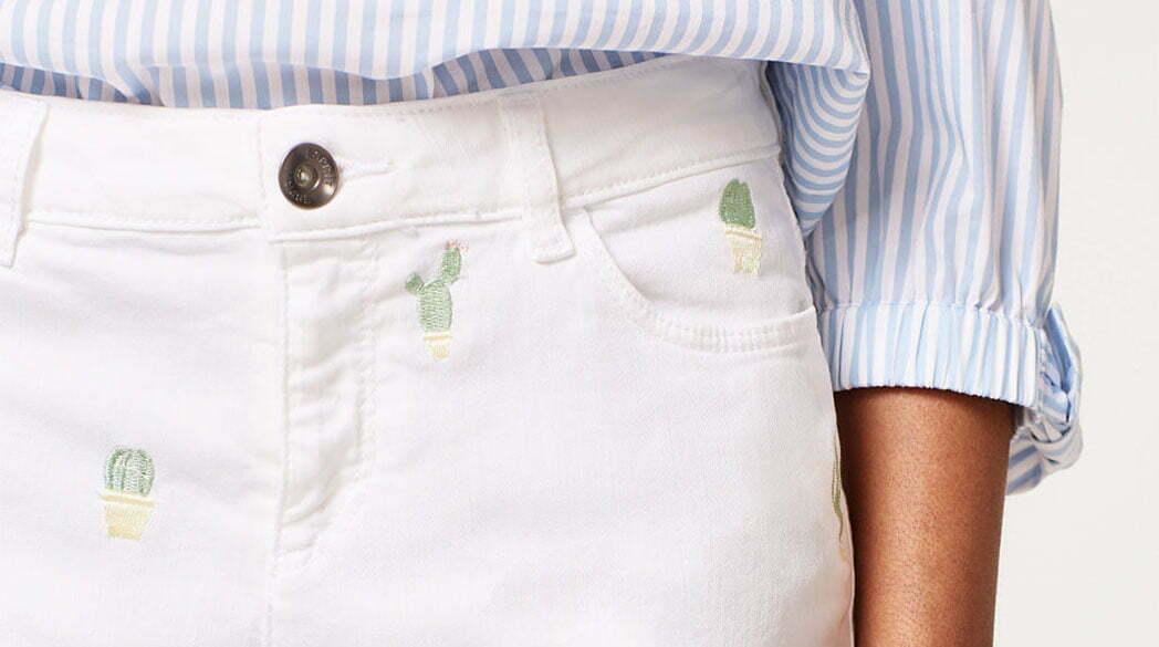 Preppy-Look: Preppy: Bestickte Shorts von Esprit