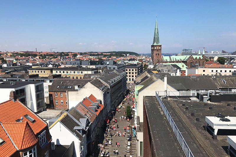 Aarhus-Tipps: Dachterrasse Kaufhaus Salling