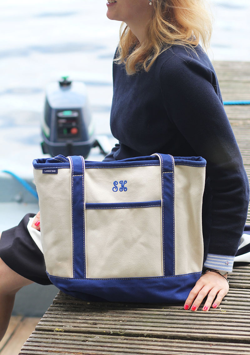 Lands' End Canvas-Tasche mit Initialen