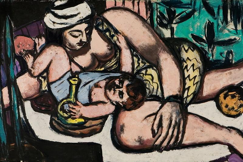 Kunst in Bielefeld: Max Beckmann - Mutter mit spielendem Kind