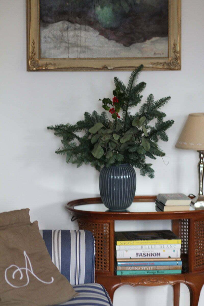 Weihnachsdeko mit Kähler Vase Hammershoi