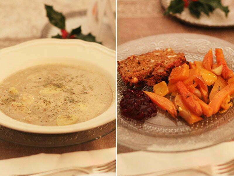 Britisches Weihnachtsessen: Maronensuppe und Nussbraten