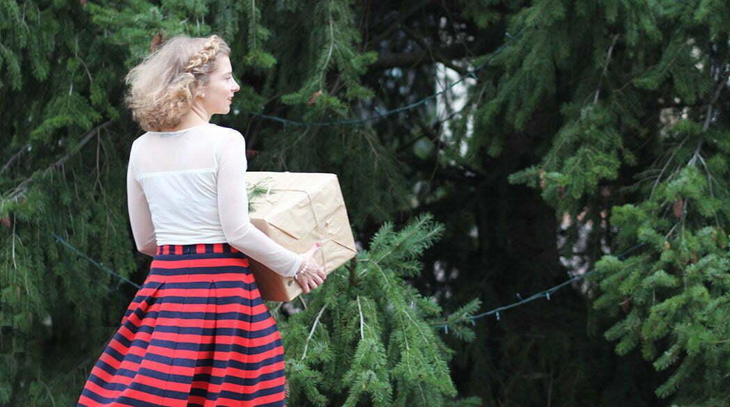 Outfitpost: Mein Heiligabend-Look in Rot-Blau-Weiß