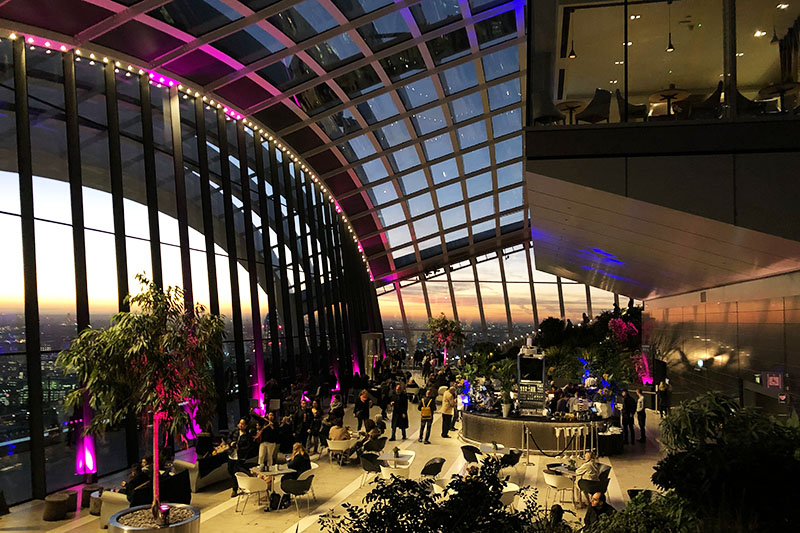 SkyGarden: Skybar in London