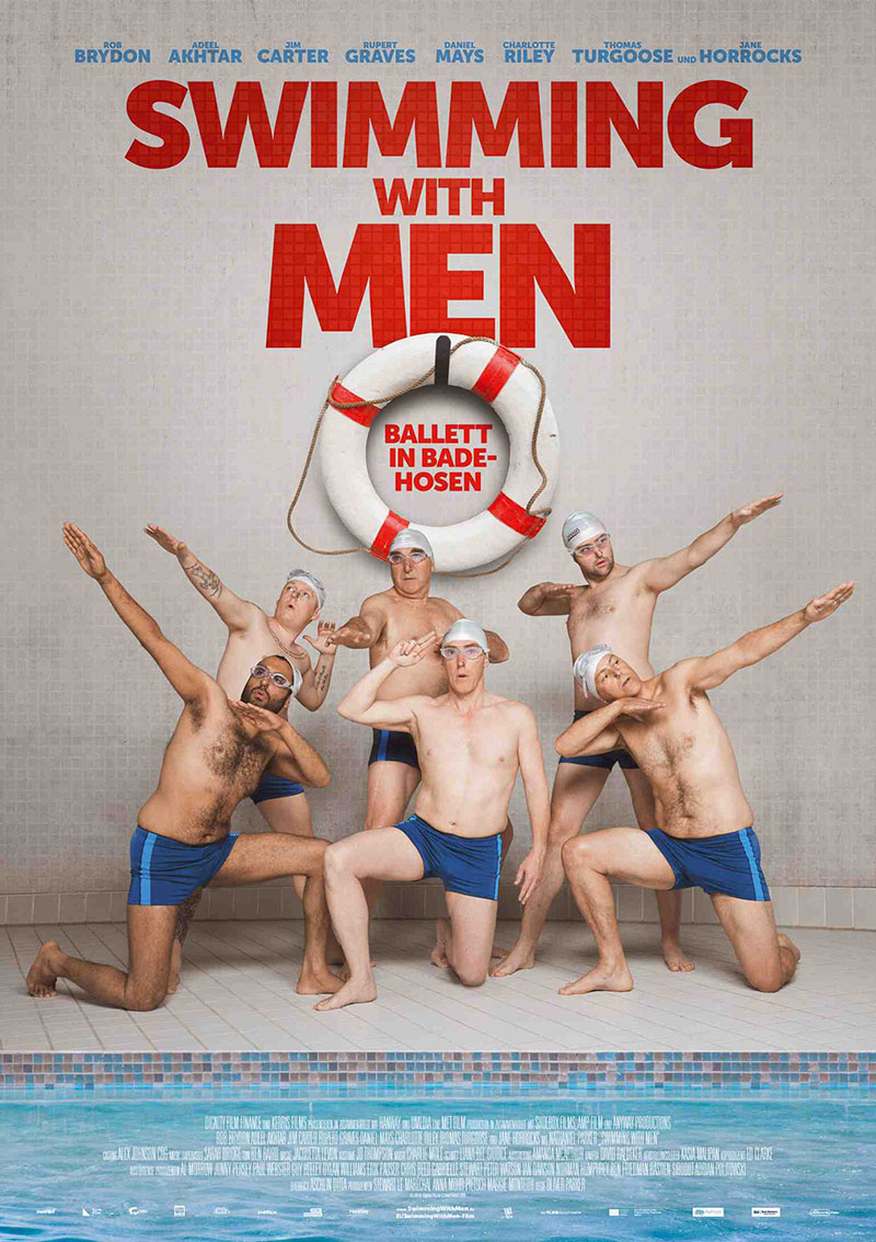 Aktuell die beste britische Kömödie: Swimming with Men