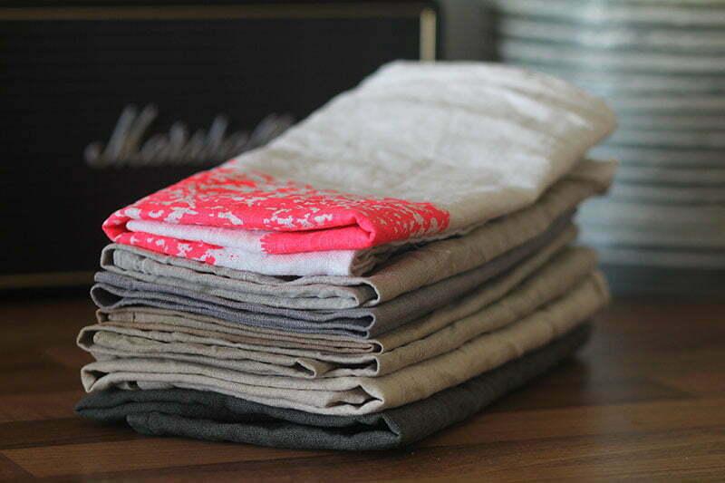 Zero Waste: Geschirrhandtücher & Servietten aus Leinen