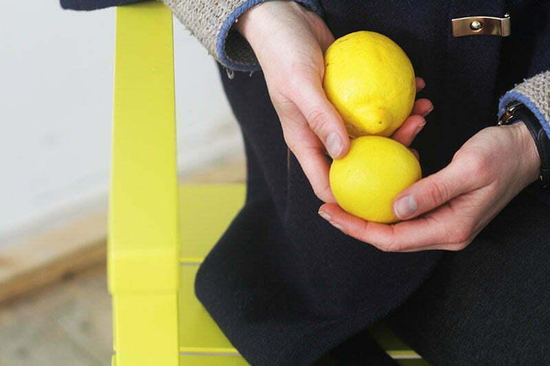 Zitronengelber Schaukelstuhl von Weishäupl