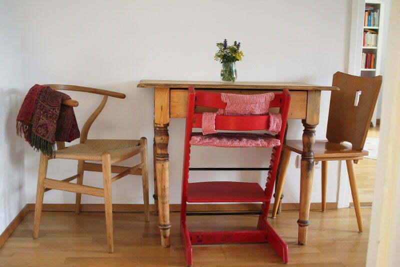 Unsere Küchenecke mit Wishbone Chair