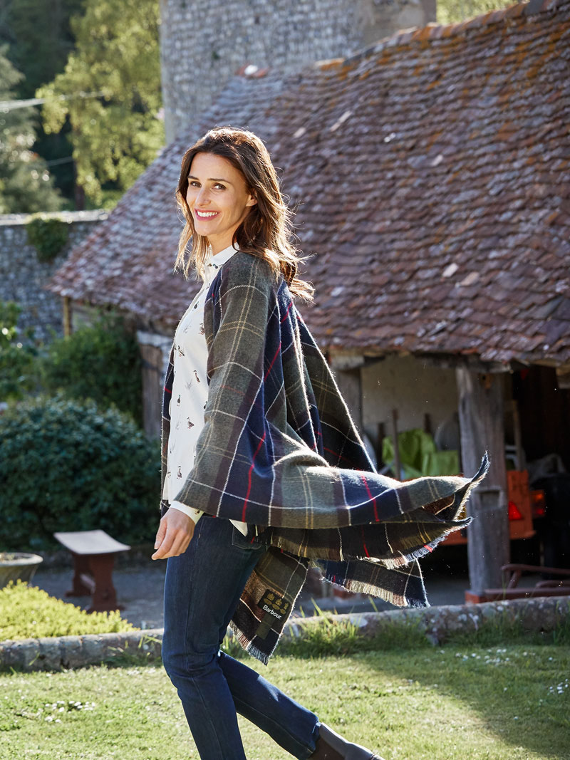 The British Shop: Barbour-Cape mit Tartan-Muster