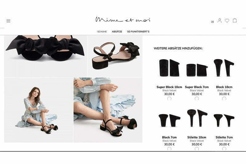 Mime et moi: Schuhe mit austauschbaren Absätzen