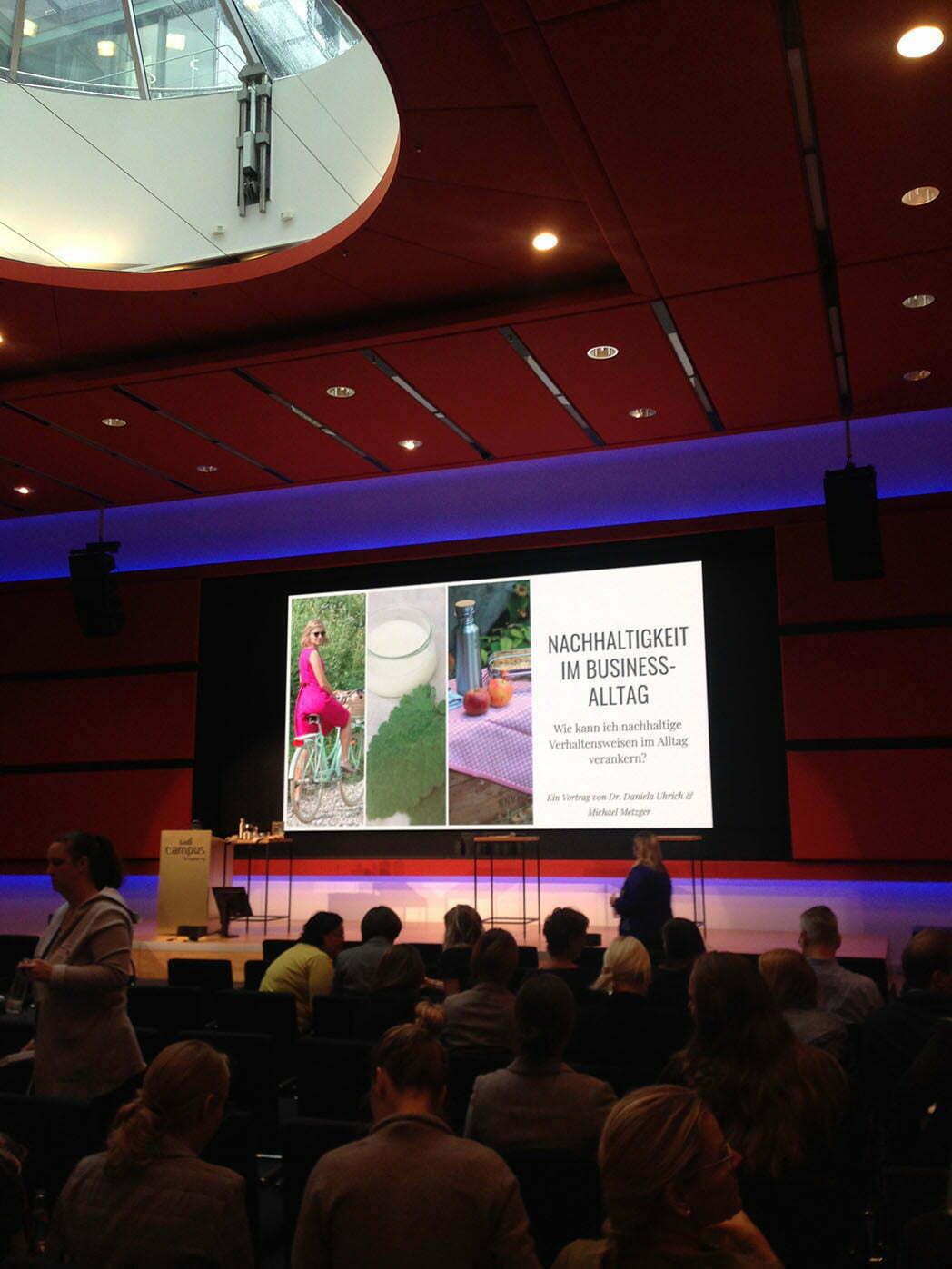 Vortrag über Nachhaltigkeit bei Accenture