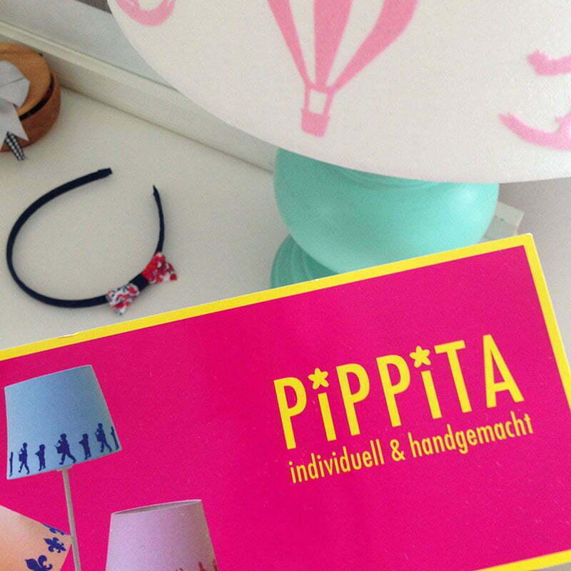 Lampenschirm mit Scherenschnittmotiven von PiPPiTa
