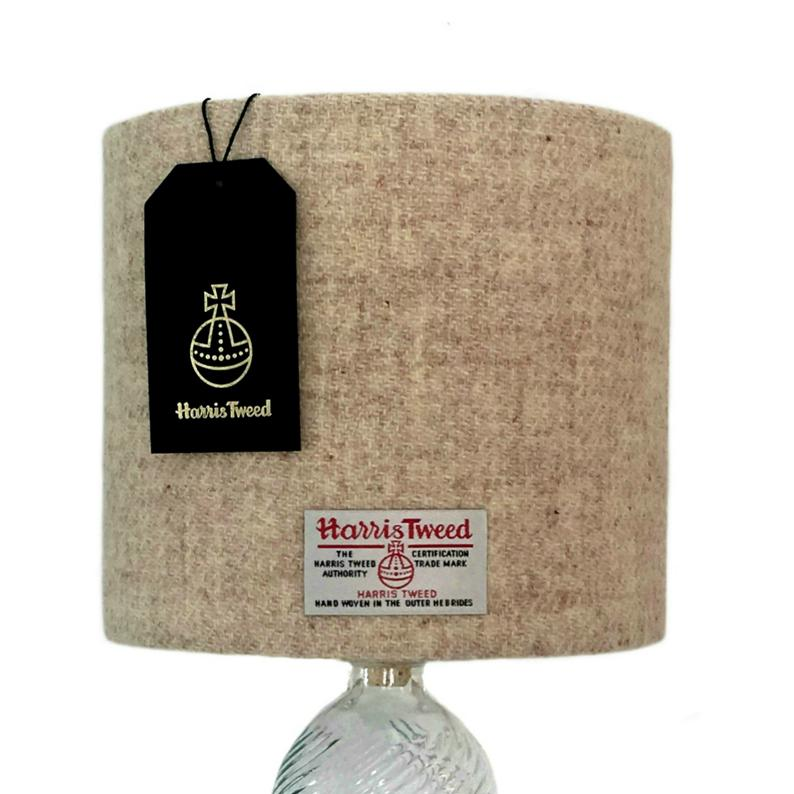 Lampenschirm mit Harris Tweed