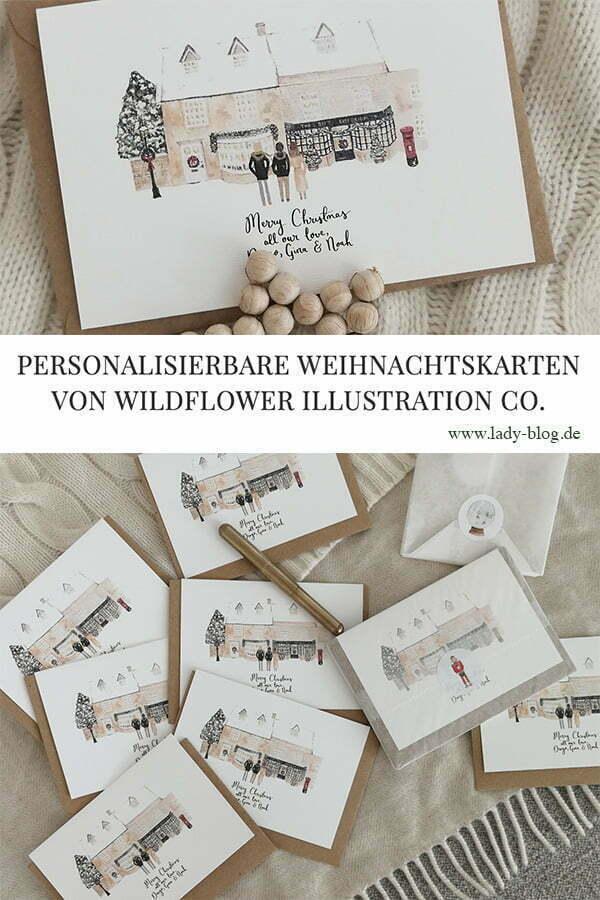 Personalisierbare Weihnachtskarten von Wildflower Illustration